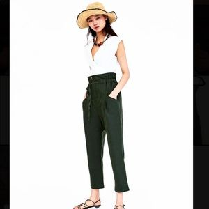 ZARA LINEN PANTS WITH DRAWSTRING